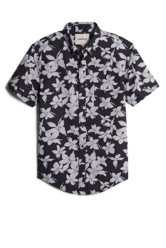 Men's Floral Short Sleeve Poplin Shirt