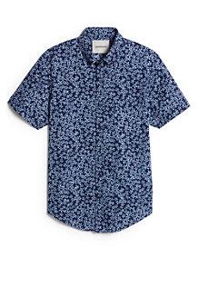 Modernes Kurzarm-Popelinhemd für Herren