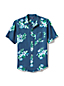 Men's Regular Patterned Short Sleeve Linen Shirt