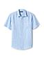 Gemustertes Leinen-Kurzarmhemd für Herren