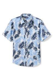 Men's Tailored Fit Pattern Linen Shirt