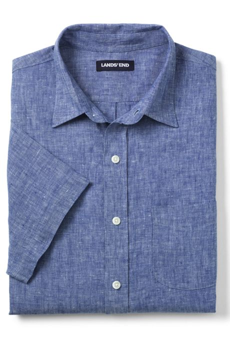 Men's Tall Tailored Fit Linen Shirt