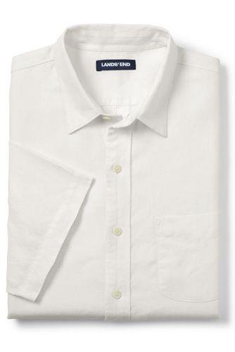 Men's Tall Short Sleeve Linen Shirt