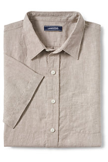 Men's Short Sleeve Linen Shirt