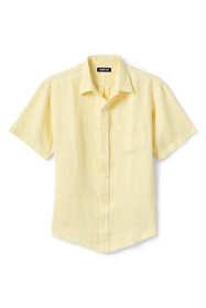 Men's Traditional Fit Short Sleeve Linen Shirt