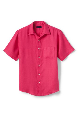 Men's Regular Short Sleeve Linen Shirt
