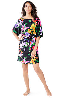 Women's Veranda Floral Mid-length Boatneck Cover-up