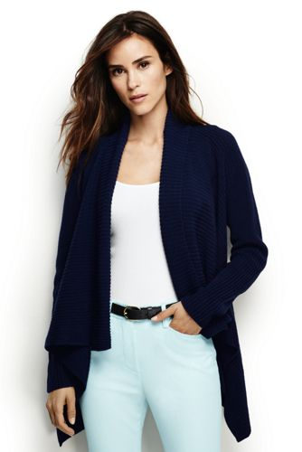 Women's Regular Linen/Cotton Shaker Cardigan