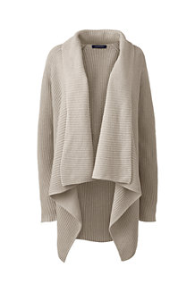 Linen Cotton Shaker Open Cardigan