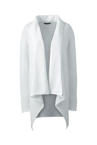 Le Cardigan Cache-Coeur en Lin & Coton Femme, Stature Standard