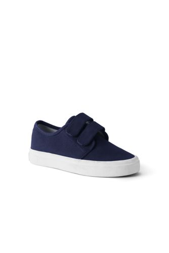 Boys' Double-strap Canvas Trainers