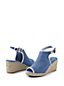 Peeptoe-Wedge aus Canvas