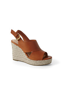 Women's Leather Wedge Sandals