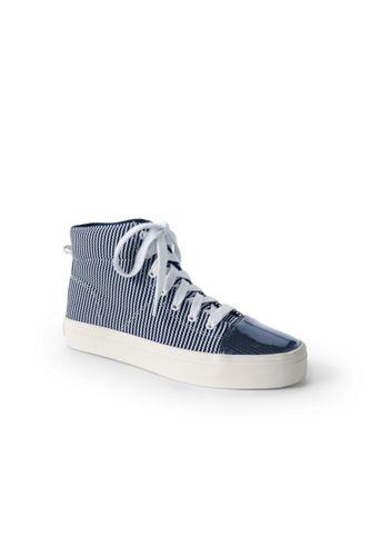 Hoher Canvas-Sneaker für Damen