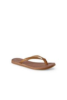 Women's Leather Flip Flops