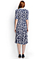 Women's Regular Elbow Sleeve Print Ponte Jersey Panelled Dress