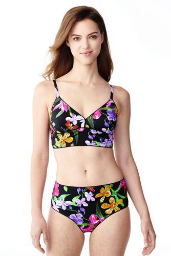 Retro Triangel-Bikinitop Veranda Floral