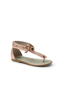 Girls' Zip-back Leather Sandals