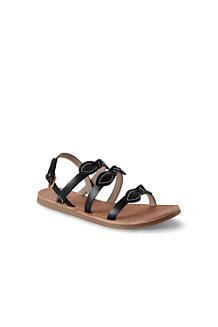 Les Sandales Plates à Noeuds en Cuir Femme