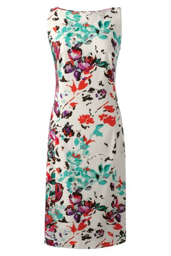 Women's Regular Sleeveless Stretch Twill Shift Dress