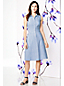 Women's Regular Sleeveless Broderie Anglaise Shirtdress