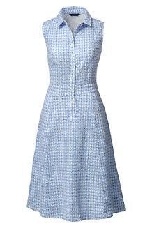 Women's Sleeveless Broderie Anglaise Shirtdress