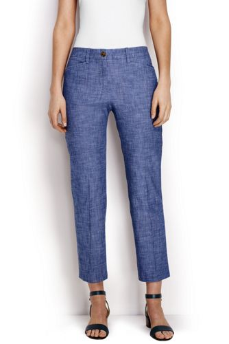 Women's Regular Chambray Crops