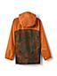 Gemusterte Regenjacke mit Packfach für große Jungen