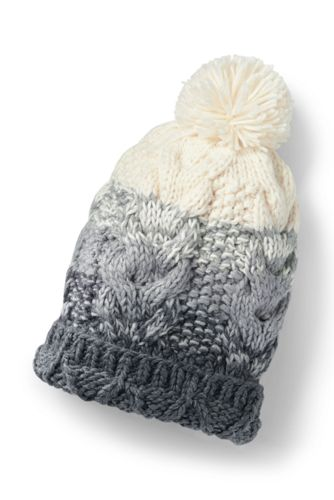 Women's Ombre Knit Bobble Hat