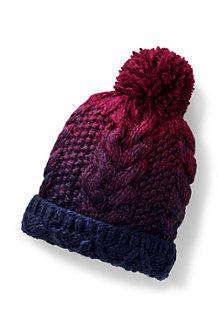 Women's Ombre Knit Bobble Hat