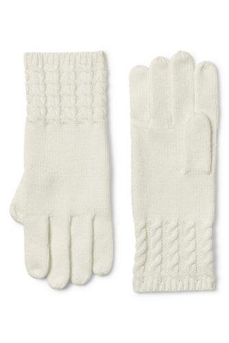 Women's Fine Gauge Cable Knit Gloves