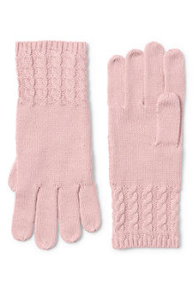 Women's Fine Gauge Cable Knit Gloves