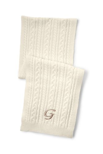 Women's Fine Gauge Cable Knit Scarf