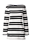 Women's Regular Striped Three Quarter Sleeve Top