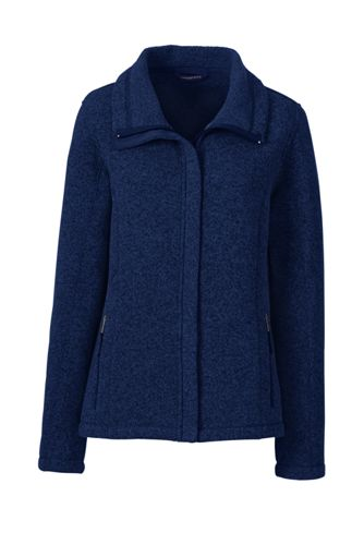 Women's Regular Sweater Fleece Jacket