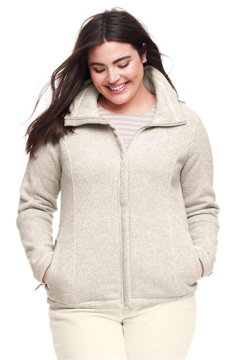 5f4c516b954 Women s Plus Size Sweater Fleece Jacket from Lands  End