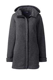 Women's Sweater Fleece Hooded Parka