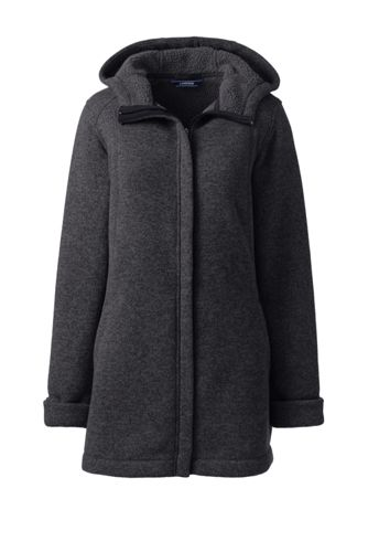 Strickfleece-Parka