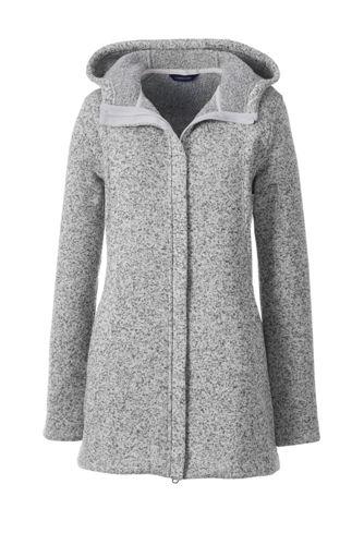 5218216ec Women's Sweater Fleece Longline Jacket   Lands' End