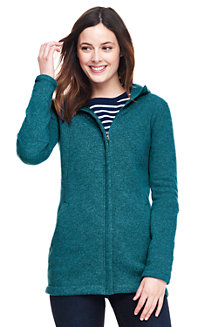 Women's Sweater Fleece Longline Jacket