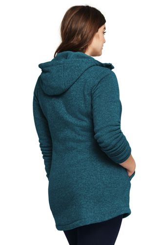 7da1e7cb4 Women's Sweater Fleece Longline Jacket | Lands' End
