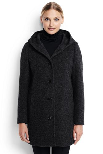 Women's Textured Wool Coat from Lands' End