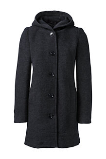 Women's Textured Wool Blend Parka
