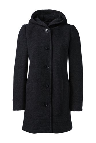 Women's Regular Textured Wool Blend Parka
