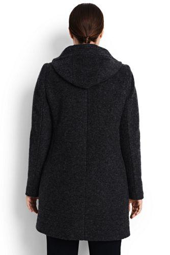 Lands' End - Plus Textured Wool Blend Parka - 2