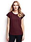Women's Regular Short Sleeve Ruched Neck Blouse