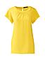 Women's Regular Short Sleeve Ruched Neck Blouse