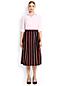 La Jupe Midi Rayée Lin et Coton, Femme Stature Standard