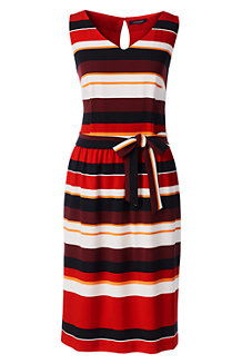 Women's Stripe Crepe Dress