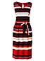 La Robe Rayée en Crèpe Femme, Stature Standard